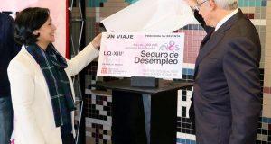"""Circularán boletos conmemorativos en el metro con motivo del octavo aniversario del programa """"Seguro de Desempleo"""" en la Ciudad de México. Imagen: twitter.com/TrabajoCDMX"""
