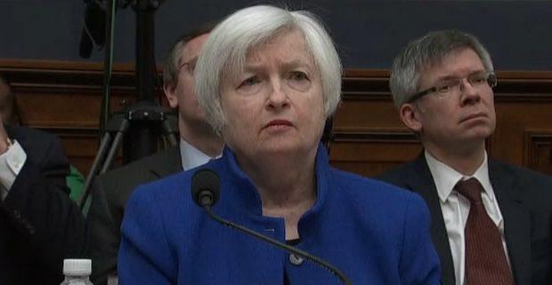 Janet Yellen en su comparecencia ante el Congreso de EU. Imagen: Bloomberg.