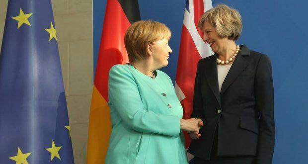 Angela Merkel y Theres May/Imagen:Adam Berry / Getty