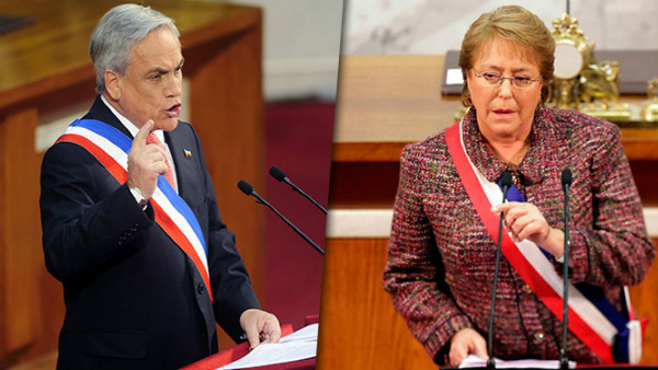 Piñera y Bachelet.