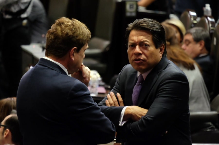 Mario Delgado molesto con diputados de morena por presupuesto