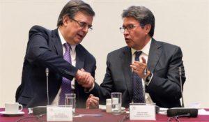 Senado avala TMEC - Marcelo Ebrard y Ricardo Monreal