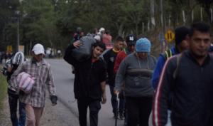 nueva caravana migrante que se dirige a México