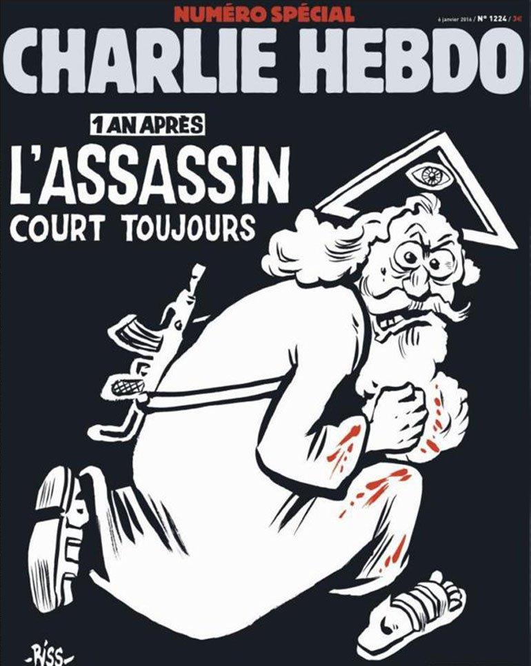 'Un año después, el asesino aún corre', dice la portada del número especial de Charlie Hebdo