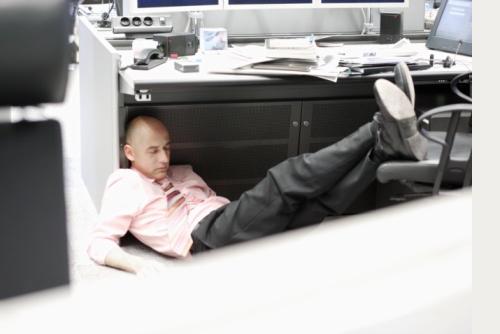 Siesta en la oficina igual a productividad/Imagen:Internet