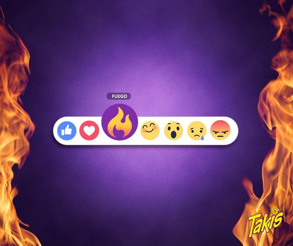 """Takis también quiere su propio botón: """"fuego""""."""