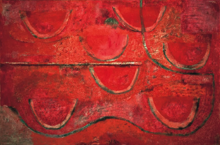 RUFINO TAMAYO Sandías, 1968 Óleo s/tela, 130,3 x 196,5 cm. Col. Museo Tamayo Arte Contemporáneo
