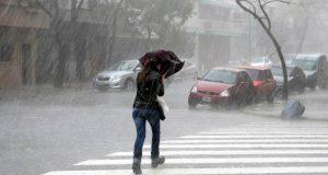Lluvias y caída de granizo en la Ciudad de México