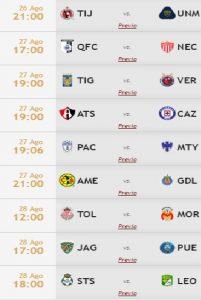 Jornada 7 Apertura 2016 Liga MX / TD