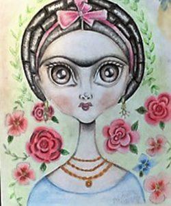 Frida Kahlo-prismacolor-Andrea