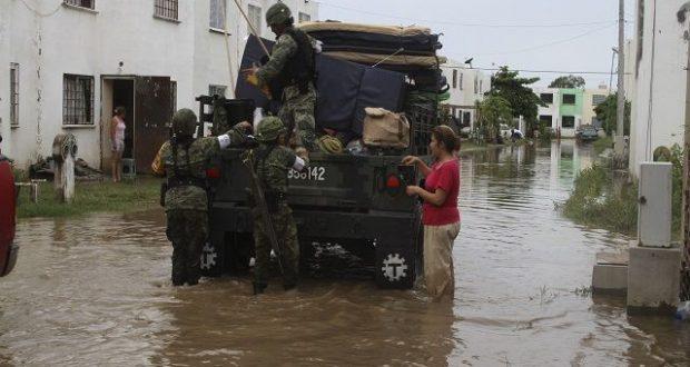 Lluvias en México dejan 9 muertos y miles de damnificados en 72 horas