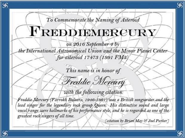 asteroide Freddie Mercury