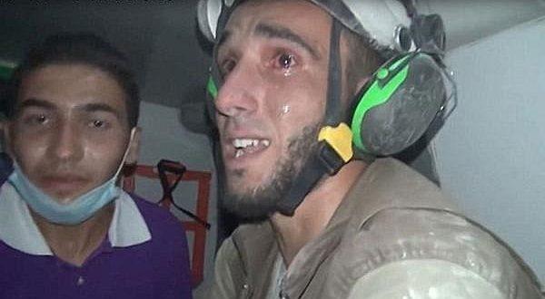 Rescatista salva a bebé de 30 días que estaba sepultada — Siria