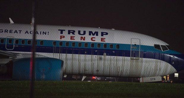 Sustito: El avión donde viaja Mike Pence se sale de pista