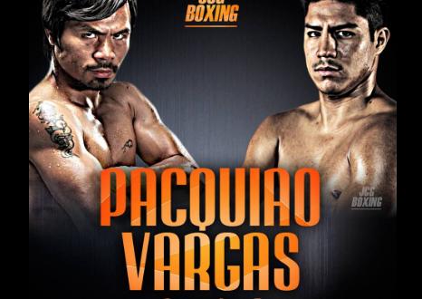 Manny Pacquiao y Jessie Vargas vencen la báscula