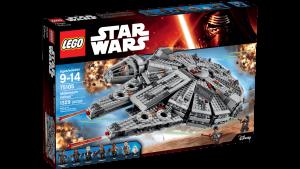 Halcón milenario de LEGO Star Wars. Fuente: Archivo.