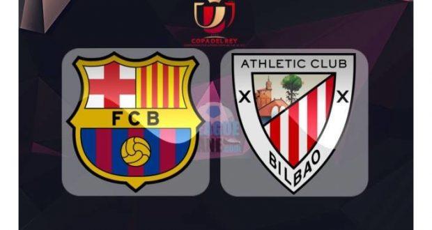 Barcelona y Athletic Club de Bilbao se enfrentarán en el partido de vuelta de los octavos final en la Copa del Rey de España.