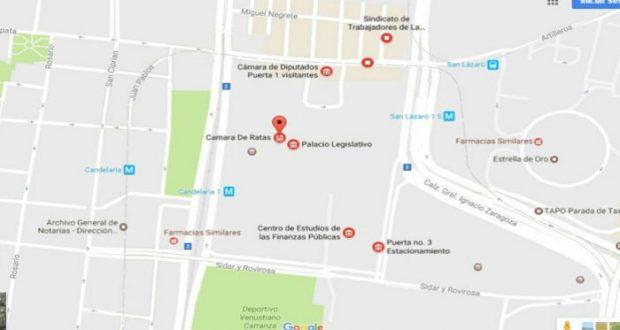 """San Lázaro aparece como """"Cámara de Ratas"""" en Google Maps"""