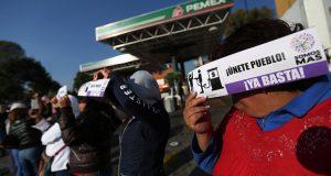 Video muestra manifestantes bloqueando la autopista México-Querétaro en protesta por el gasolinaz