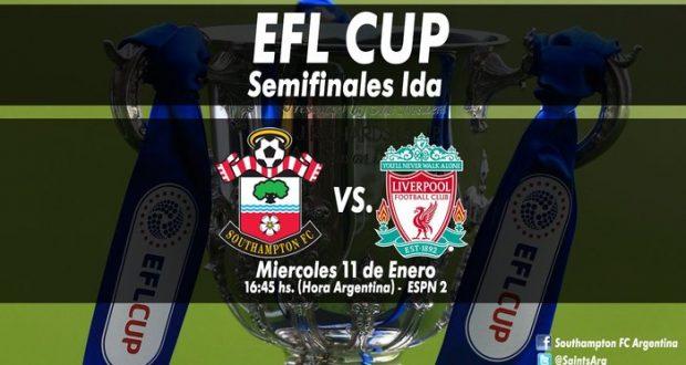Southampton y Liverpool se enfrentarán en el partido de ida de las semifinales en la EPL Cup.