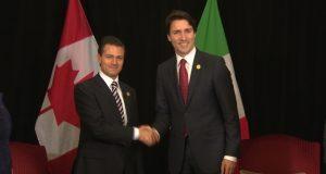 Justin Trudeau, primer ministro canadiense, y presidente de México Enrique Peña Nieto Fortalecen relaciones comerciales de México y Canadá ante cambios en el Tratado de Libre Comercio con América del Norte (TLCAN)
