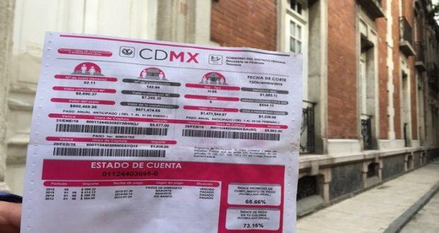 Pago impuesto predial ciudad de mexico mantendr descuento for Oficina virtual del catrasto
