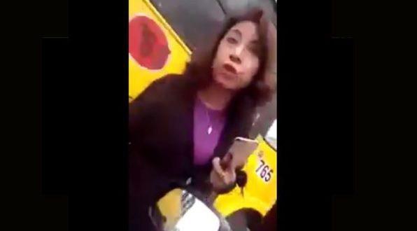 #LadyPrepotente insulta y humilla a taxista en Jalapa