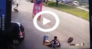 Video muestra el terrible accidente provocado por un neumático