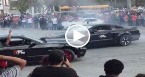 Video muestra accidente en una exhibición de autos en Tamaulipas