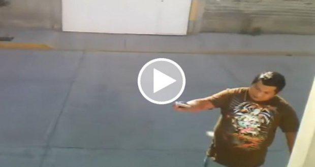 Graban a un hombre disparando a su vecino por ver a su mujer en Edomex