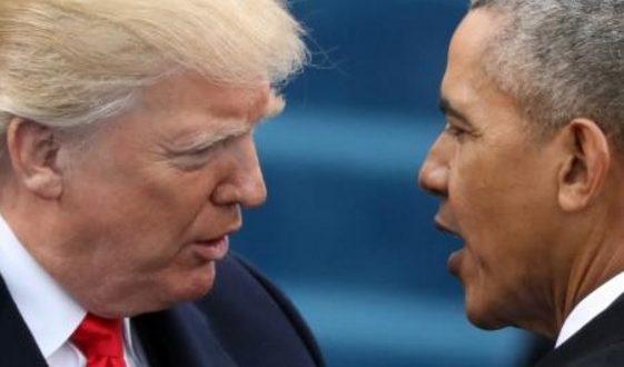 Obama responde a Trump sobre su acusación de intervención telefónica El ex presidente Barack Obama respondió a Donald Trump sobre las acusaciones que lanzó en su contra, asegurando que durante su gobierno no se intervino el teléfono de nadie. El presidente Trump acuso a Barack Obama de intervenir sus comunicaciones durante el tiempo de campaña en octubre de 2016, acusaciones que fueron desmentidas por el portavoz de Obama, Kevin Lewis, a través de un comunicado.
