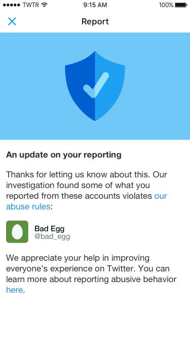 Ejemplo del reporte de una notificación