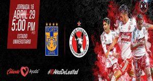 Tigres de la UANL y Xolos de Tijuana se enfrentarán en la jornada 16 del torneo Clausura 2017 de la Liga Bancomer MX. Tigres debe ganar para tener posibilidades de clasificar a la Liguilla, mientras que Xolos busca el liderato general.