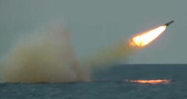 Rusia publica lanzamientos de misiles de la fragata rusa en el Mar Negro