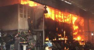 Incendio en el mercado de Jamaica