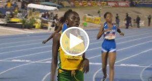 Observa a Brianna Lyston la joven que ha sido llamada la niña Bolt