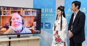 Una robot china fue entrevistada por primera vez en tiempo real