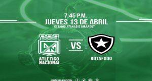 Atlético Nacional buscará su primera victoria en la jornada 2 de la Copa Libertadores 2017 cuando se enfrente al Botafogo de Brasil.