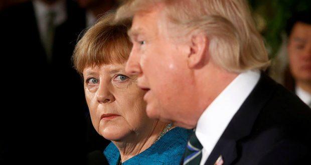 Trump vs Merkel, una guerra entre potencias Trump y Angela Merkel han intensificado la tensión entre Estados Unidos y Alemania con sus recientes declaraciones; pero, de fracturarse la relación ¿quién perdería más? Las tensiones entre Estados Unidos y Alemania se intensificaron con las fuertes críticas de Angela Merkel ante la postura de Trump en la OTAN y el G7; incrementando la incertidumbre de la relación diplomática y económica de ambas naciones. En su primera gira de Estado por Europa y Oriente Medio, el primer mandatario estadounidense llevó un discurso de crítica ante sus socios de la Organización del Tratado del Atlántico (OTAN), donde señaló la desventaja de Estados Unidos por el gasto militar que realiza y posteriormente se negó a respaldar un acuerdo climático mundial ante los integrantes de las siete economías más fuertes del mundo, G7.