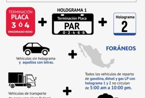 Continúa mala calidad del aire en el Valle de México, mantienen contingencia