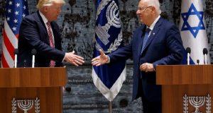 Visita de Trump en Israel 2017: presidente te EU busca la paz entre Israel y palestinos Este lunes el presidente Donald Trump llegó a Israel con un discurso de paz en su claro intento por reavivar los diálogos entre Israel y palestinos.