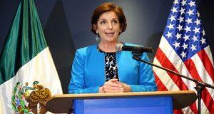 La embajadora de los Estados Unidos en México, señaló que el TLCAN y temas de seguridad son prioridad en relación bilateral.
