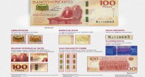 Ante el aumento de casos detectados por las autoridades, Banco de México emite alerta para detectar billetes falsos de 100 pesos conmemorativos.