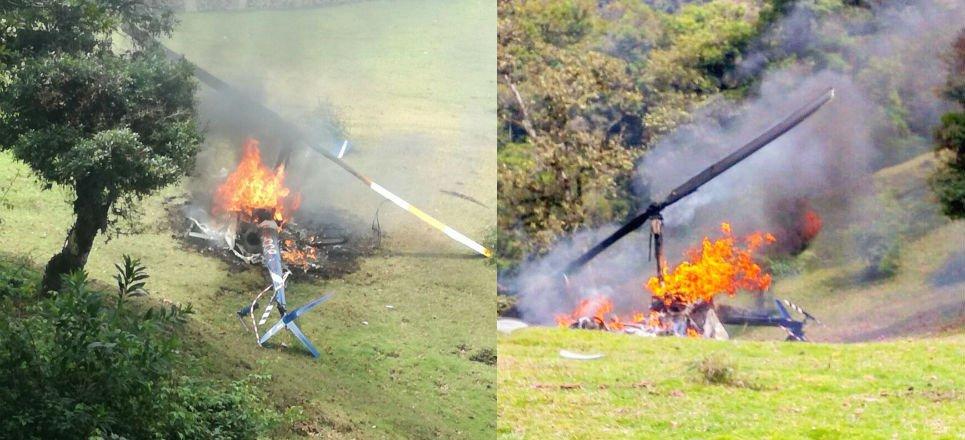 Helicóptero del vocero del PVEM se desploma en Veracruz Un helicóptero con integrantes del Partido Verde, en donde viajaba su vocero Carlos Marcelo Ruiz Sánchez, se desplomó el domingo en Veracruz. De acuerdo a datos oficiales citados por el Partido Verde Ecologista de México (PVEM), el helicóptero en el que viajaban dos de sus integrantes y dos pilotos, se estrelló en la zona montañosa de Veracruz alrededor de las 12:00pm del domingo 27 de mayo.