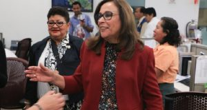Difunden nuevo vídeo de Eva Cadena; Rocío Nahle la recaudadora de AMLO