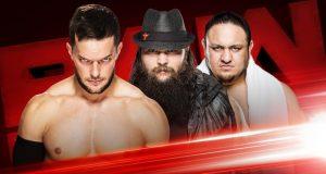 En el último show de Raw antes del evento WWE Extreme Rules, los participantes del combate entre 5 superestrellas, Finn Balor, Bray Wyatt, Samoa Joe, Roman Reigns y Seth Rollins tendrán acción.