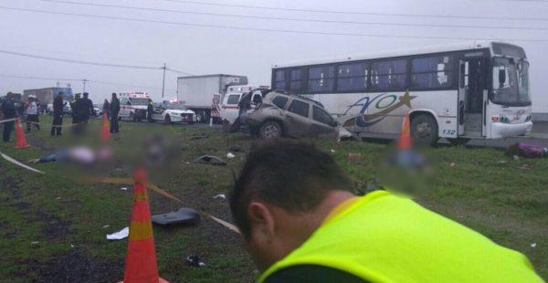 Seis personas murieron y otras más resultaron heridas en un trágico accidente Circuito Exterior Mexiquense