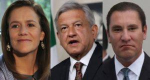 Rafael Moreno, Margarita Zavala y AMLO