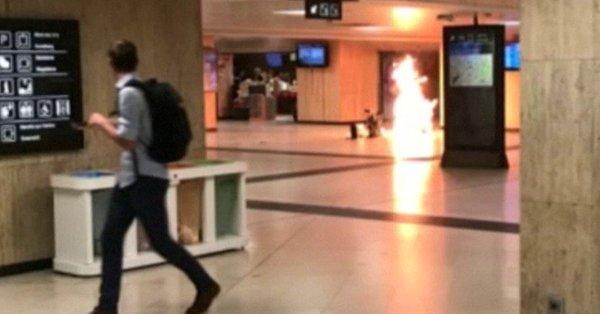 explosión en la estación de trenes de Bruselas VIDEOS