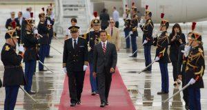 Peña Nieto se reúne con Emmanuel Macron en el Palacio del Eliseo, Francia